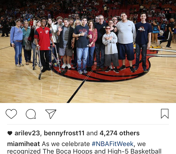 Miami Heat #NBAFitWeek Recognizes High 5 Basketball and Boca Hoops